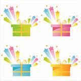 presents with star splash