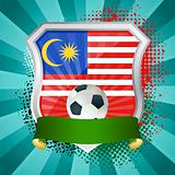Shield with flag of Malaysia