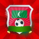 Shield with flag of Maldives