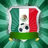 Shield with flag of Mexico