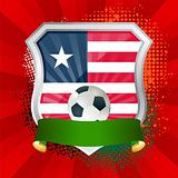 Shield with flag of  Liberia
