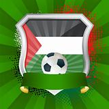 Shield with flag of Palestine
