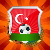 Shield with flag of  Turkey