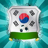 Shield with flag of South Korea