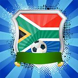 Shield with flag of South Africa