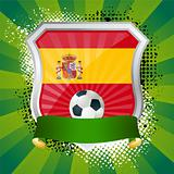 Shield with flag of Spain