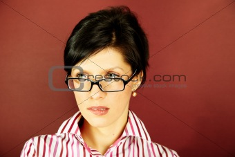 nerd office woman