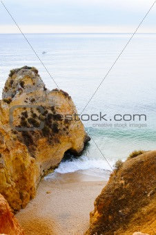 Beach between the rocks