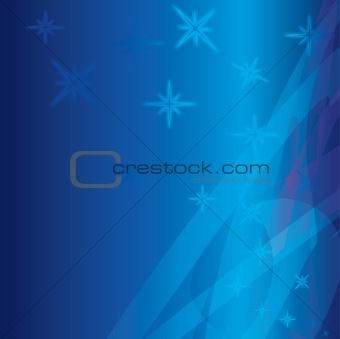 Abstract lines on a blue background