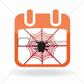 Calendar icon with spider
