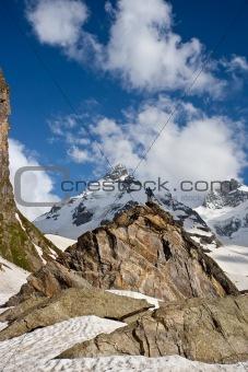 Small figure on the peak