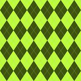 Pattern with green rhombuses