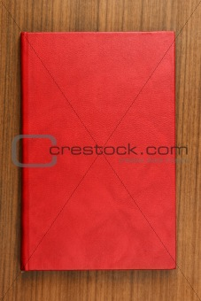 Book with red leather cover