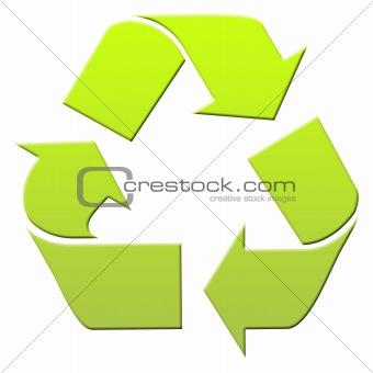 Green recyling symbol