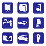Electronics - vector web icons
