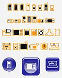 Home electronics - set of vector icons