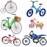 Bicycle And Motorcycle Ikons