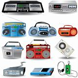 Cassette Player Icons