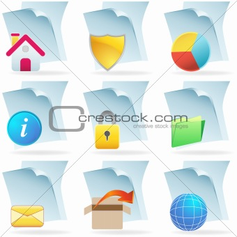 3D Web Document Icons