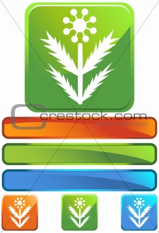 Green Square Icon - Weed