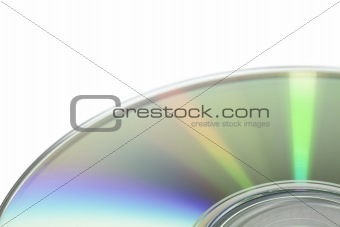 cd surface, on white background