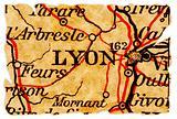 Lyon old map