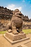 Guardian Statue in Borobudur temple site