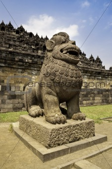 Guardian Statue in Borobudur temple site