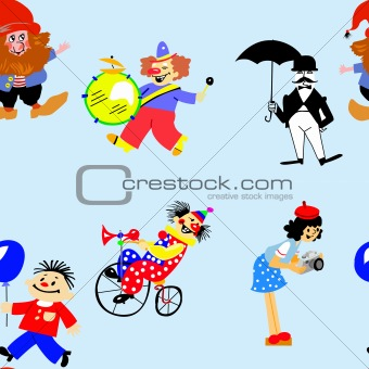vector illustration of the people on white background