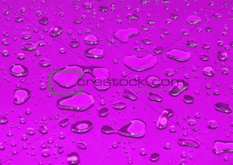 bright pink water drops background