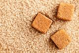 brown cubes of sugar