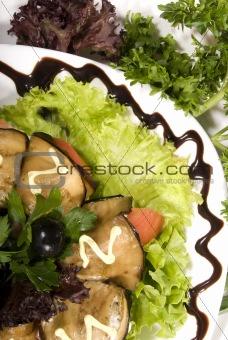 Aubergine appetizer