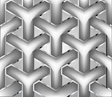 Chain silver fence. Vector illustration