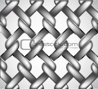 Chain fence. Vector
