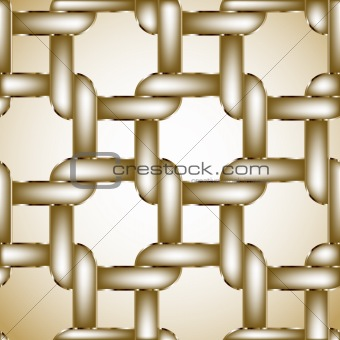 Chain gold fence. Vector illustration