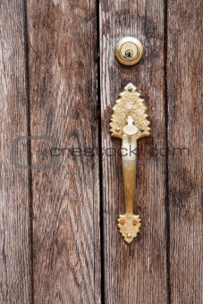 Old door handle vertcal