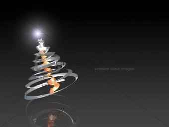 Abstract steel christmas tree