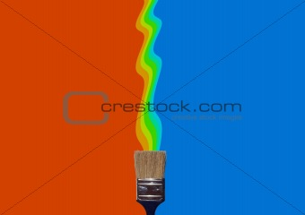 Painting vertical colours