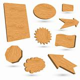 Wood vector labels