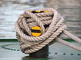 Mooring Post and Rope