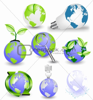 Abstract vector globes