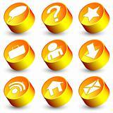 Orange web icons
