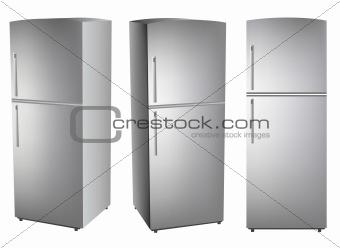 Three refrigerators