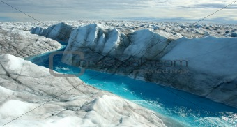 Greenland Ice Sheet meltwater stream