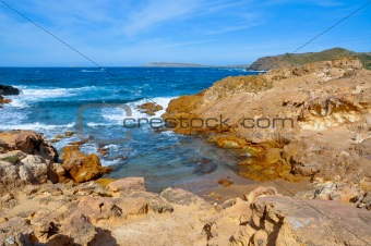 little cove in Menorca, Balearic Islands, Spain