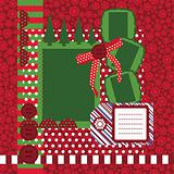 Vector Christmas page - set of design elements