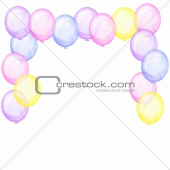 Background with transparent balloons.