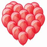 Red balloons heart. Symbol of a healthy heart. Eps10.