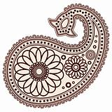 Vector Hand-Drawn Abstract Henna (mehndi) Paisley Doodle Vector Illustration Design Elements.
