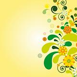 Vector Sun floral background.